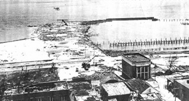 PC Harbor after hurricane Camille