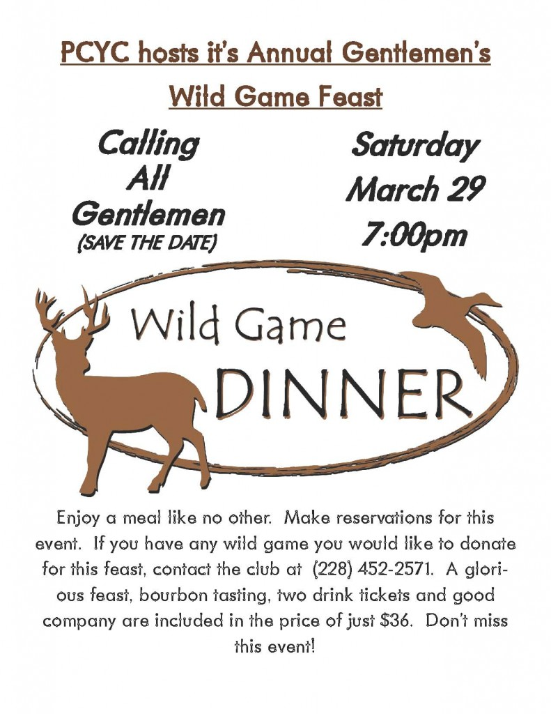 pcyc wild game feast