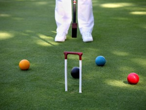 croquet on lawn